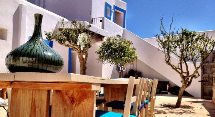 The terrace  Very special guesthouse Ibiza Cami des Turs San Miguel Ibiza