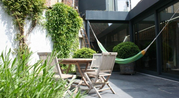 The garden  Bed & Bamboe Schommelstraat 71 Ghent