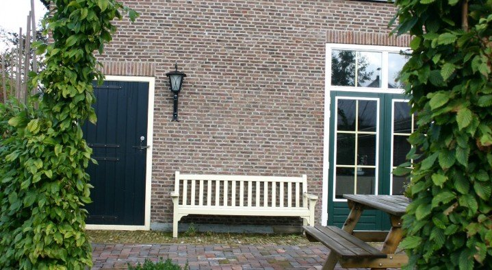 The terrace at the breakfastroom.  Bed & Breakfast 'Pax Tibi' Middelburgseweg 11 Reeuwijk